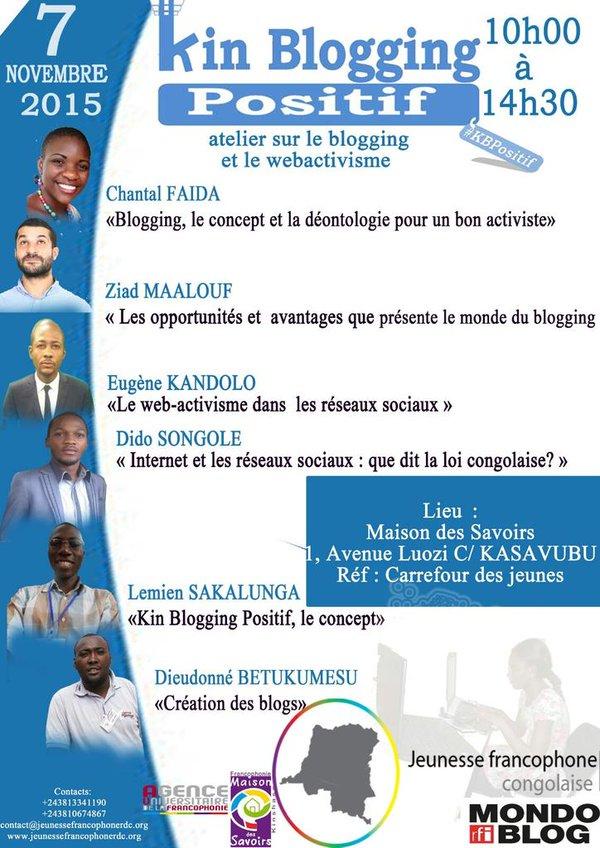 07.11.2015 la grand-messe des blogueurs de Kinshasa a eu lieu. Succès hors pair. Inspiration de ce billet intervient.